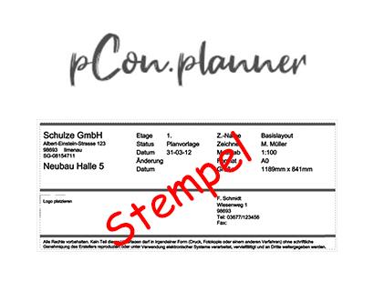 pCon.planner PRO – Erstellen von Stempeln